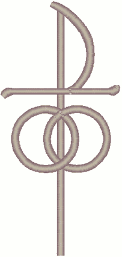 Christian Symbol Of Marriage Embroidery Design