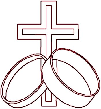 Redwork Forever Rings Marriage Symbol Embroidery Design