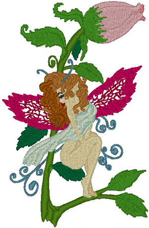 Crystobel: The Rosebud Fairy Embroidery Design