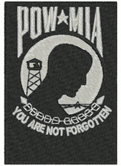 POW/MIA Embroidery Design