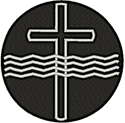 Baptismal Cross & Water Embroidery Design