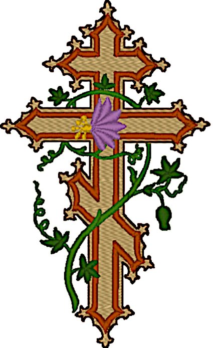Orthodox Cross Embroidery Design