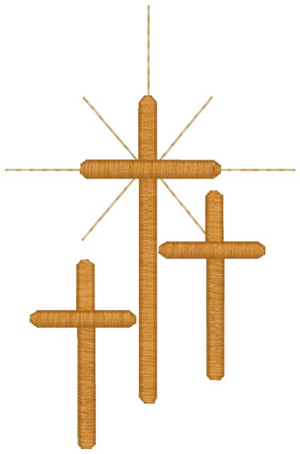 Three Crosses #3 Embroidery Design