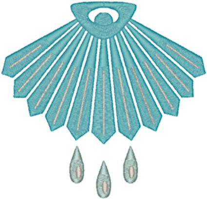 Shell Baptism Symbol #2 Embroidery Design