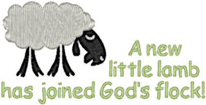A New Little Lamb Embroidery Design