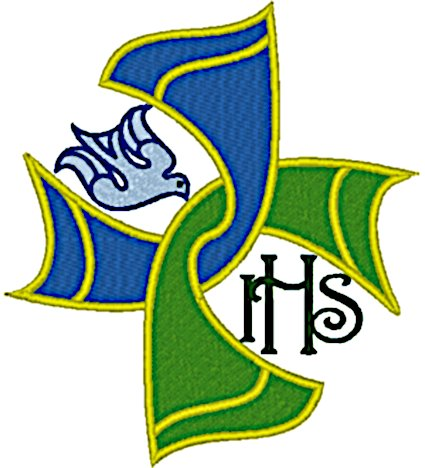Celtic Woven Stole Cross Embroidery Design