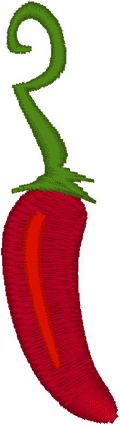 Jalapeno Pepper Embroidery Design