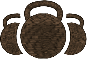 Kettlebells Embroidery Design