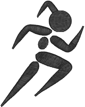 Running Girl Pictogram Embroidery Design