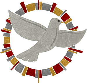 Multicolor Holy Spirit Dove Embroidery Design