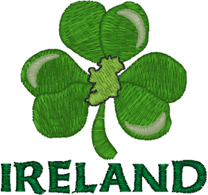 Ireland Shamrock Embroidery Design