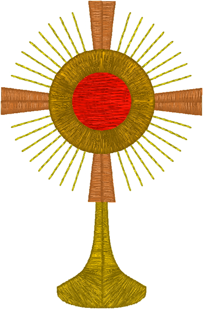 ostensorium br monstrance 2 embroidery design