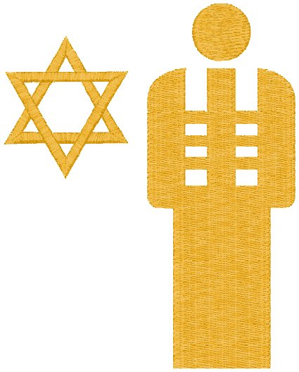 Rabbi Embroidery Design