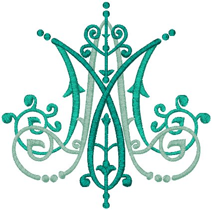 Auspice Maria #5 Embroidery Design