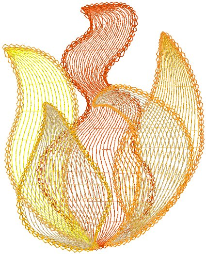 Flames #4 Embroidery Design