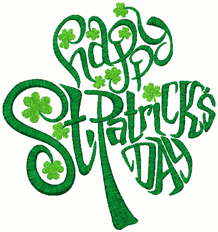 St. Patrick's Day Heart Embroidery Design