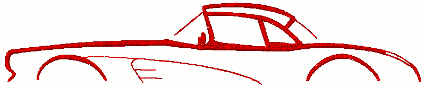 Corvette C2 Generation Outline Embroidery Design