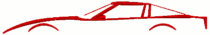 Corvette C5 Generation Outline Embroidery Design