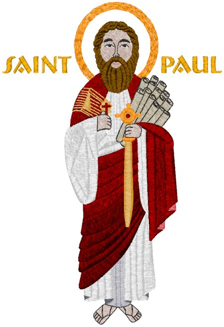 St. Paul Icon Embroidery Design