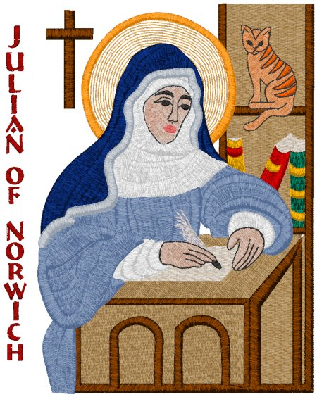 Julian of Norwich Icon Embroidery Design