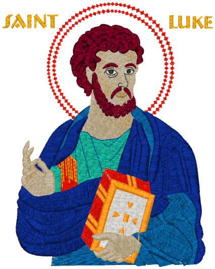 Mega St. Luke the Evangelist Icon Embroidery Design