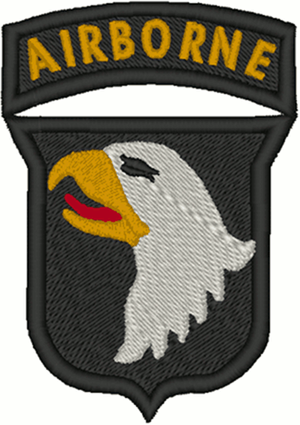 101st Airborne Design Embroidery Design