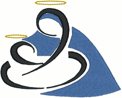 Madonna & Child Embroidery Design