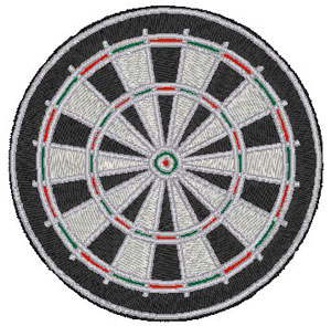 Dartboard Embroidery Design