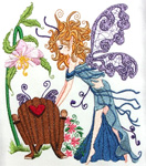 Mazelina: The Lullaby Garden Fairy Embroidery Design