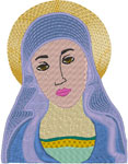 Virgin Mary Icon Embroidery Design