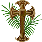 Cross & Palms Embroidery Design