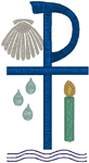 Machine Embroidery Design: Baptism Symbols