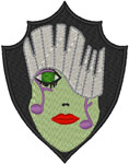 Mardi Gras Music Mask Embroidery Design