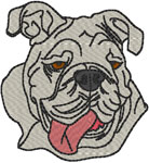 English Bulldog #2 Embroidery Design