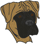 Bullmastiff Embroidery Design