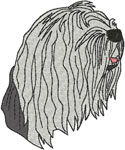 Old English Sheepdog Embroidery Design