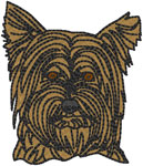 Yorkshire Terrier - Yorkie Embroidery Design