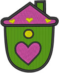 Little Birdhouse #1 Embroidery Design