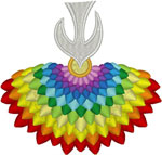 Machine Embroidery Design: Colorful Descending Holy Spirit #2