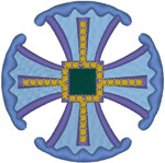 Canterbury Cross #3 Embroidery Design
