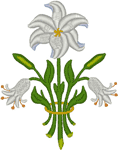 St. Clement's Altar Guild Vestment Lily Embroidery Design
