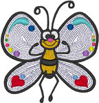 GF Butterfly Embroidery Design