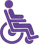 Wheelchair Access Symbol Embroidery Design