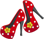 Floral High Heels Embroidery Design