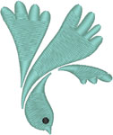 Descending Holy Spirit Dove Embroidery Design