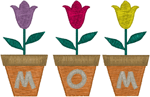 Tulips for Mom Embroidery Design