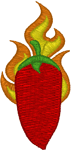Firey Cayenne Embroidery Design