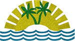 Tropical Sun Embroidery Design