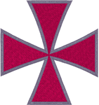 Christian Embroidery Designs: Maltese Cross #3