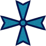 Christian Embroidery Designs: Maltese Cross #4